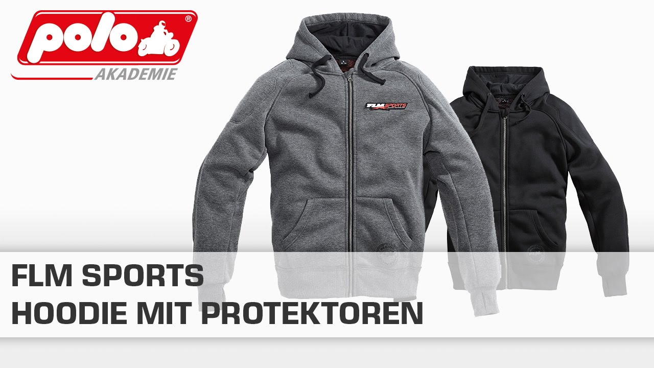 flm sports hoodie mit protektoren youtube