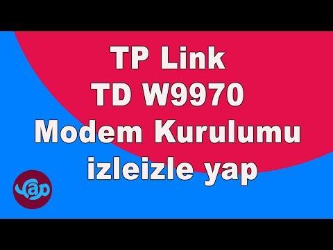 TP Link TD W9970 Modem Kurulumu Video İzle Izleizle Yap