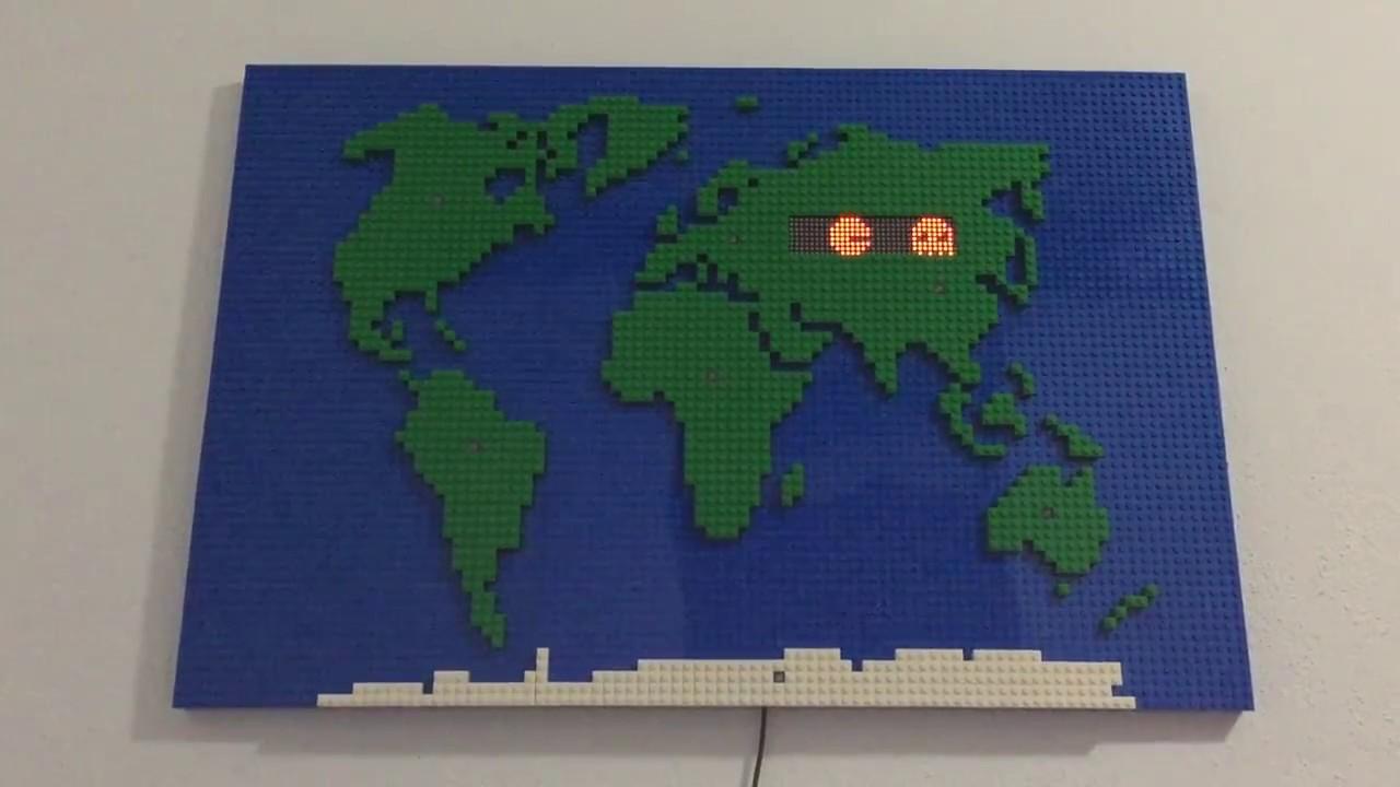Lego world map youtube lego world map gumiabroncs Images