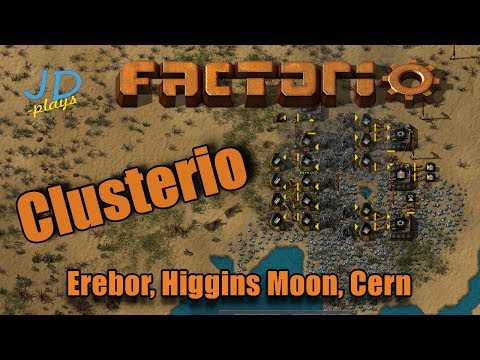 Clusterio Servers Tour Mining and Science Packs   Erebor, Higgins Moon, Cern