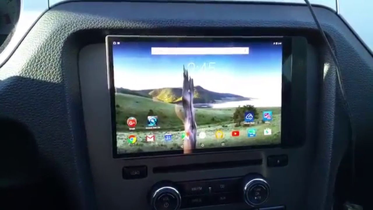 How to install tablet in a car for 10 bucks youtube greentooth Image collections