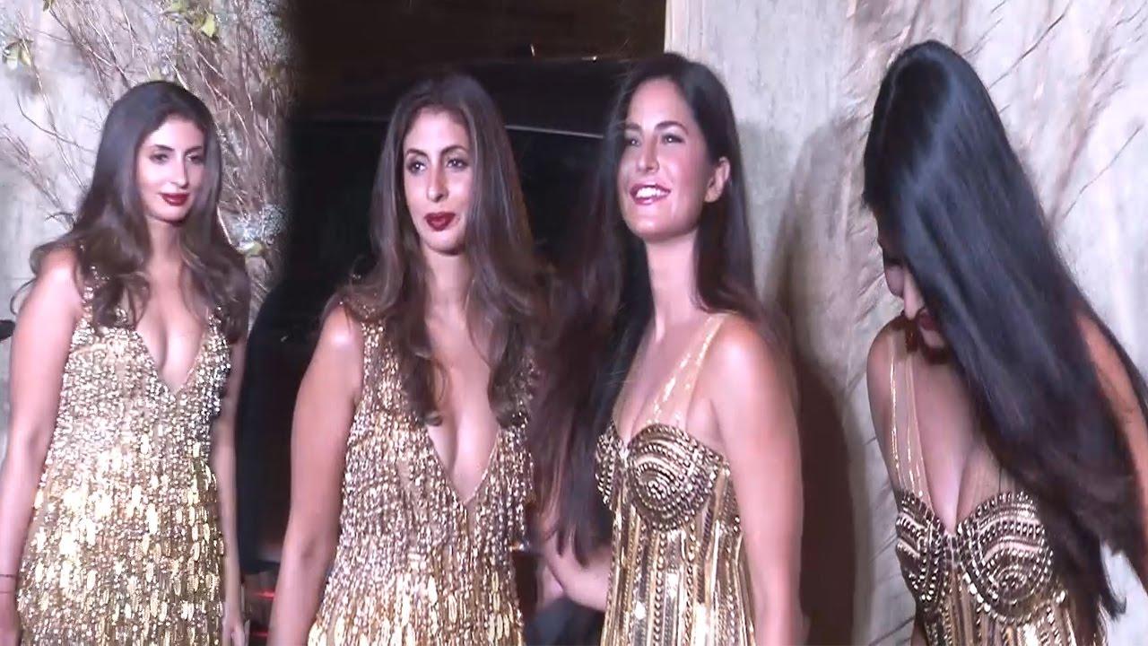 Hot Katrina Kaif With Shweta Nanda in Deep Neck outfit At Manish Malhotra's Birthday Bash