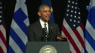 Η ομιλία Ομπάμα στην Αθήνα - Ρεπορτάζ του New Greek TV