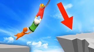 EXTREME HUMAN CHAIN ISLAND JUMPS! (Human Fall Flat) thumbnail