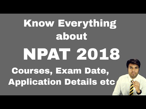 NPAT 2018 - Exam Details, Courses, Registration, Dates, Eligibilty, Result,Counselling etc | NMIMS
