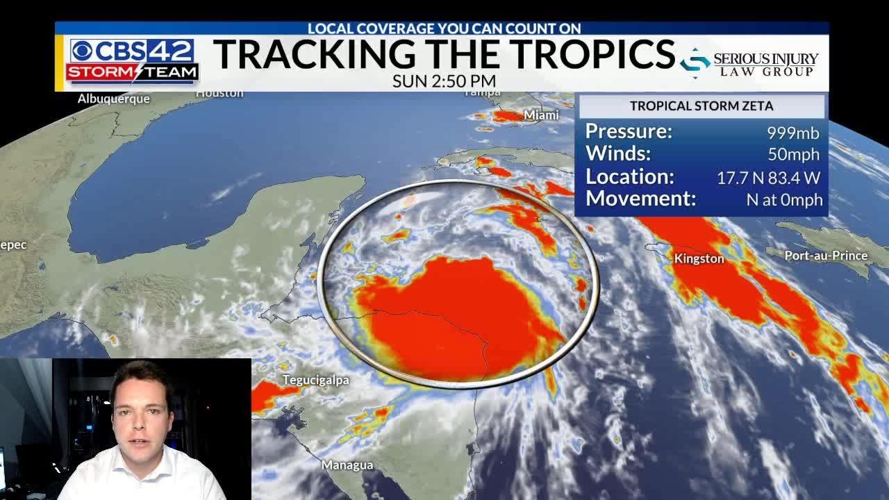Tropical Storm Zeta Bringing Heavy Rain Wed/Thurs