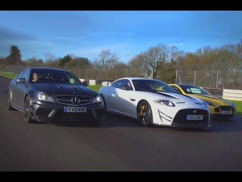Mercedes C63 AMG Black Series vs Jaguar XKR-S GT vs Aston Martin V12 Vantage S: supercoupe shootout