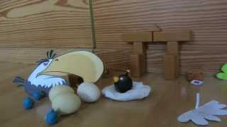 Angry Birds Stop-Motion: Mighty Eagle😮