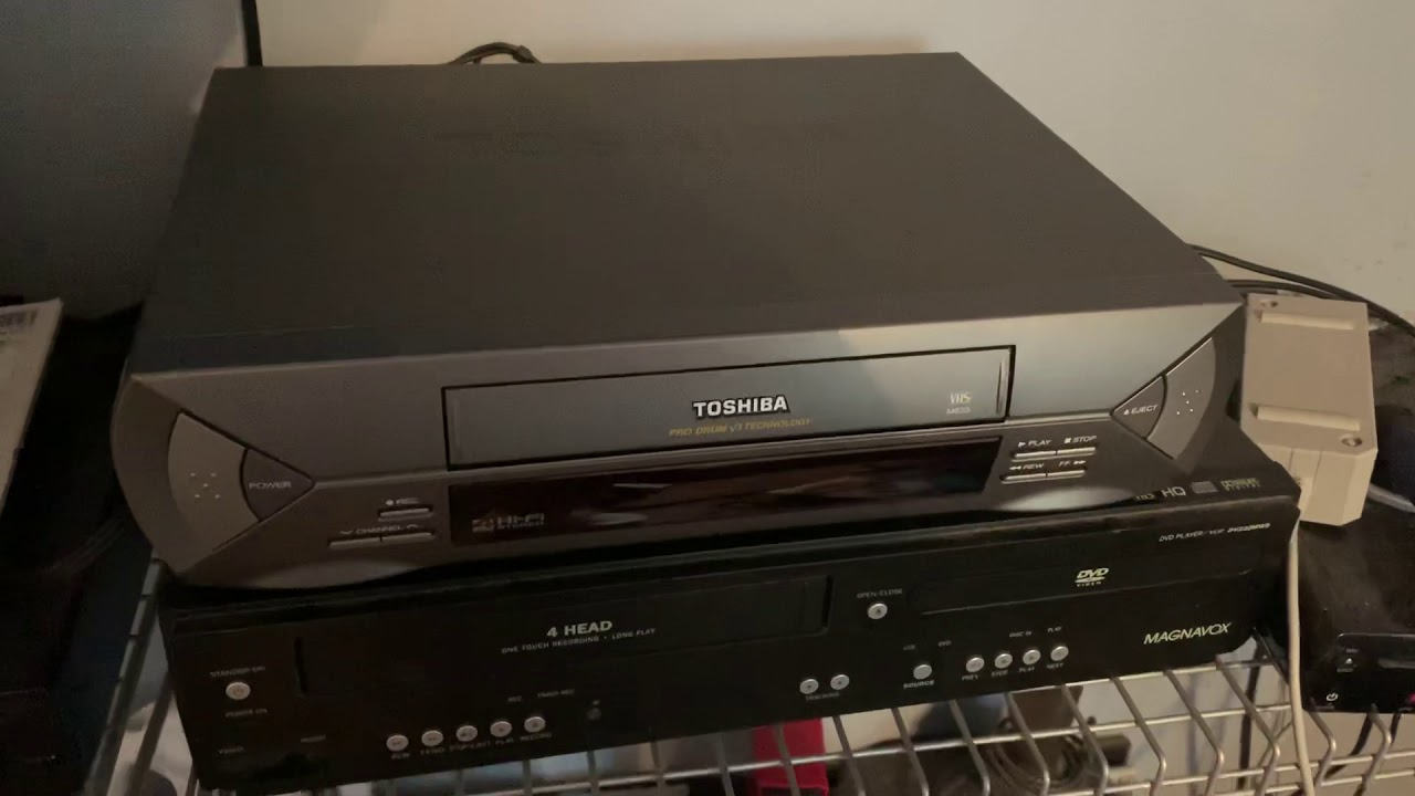 Demonstration on my new Toshiba VCR
