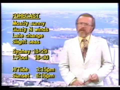 TEN10 Sydney TV News and Weather 1981
