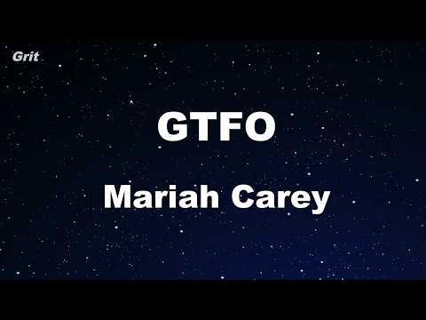 GTFO - Mariah Carey Karaoke 【No Guide Melody】 Instrumental