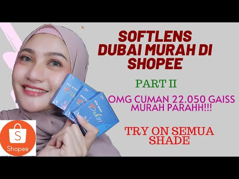 SHOPEE HAUL SOFTLENS DUBAI PART II | TRY ON || DHINDHIN LYDIA