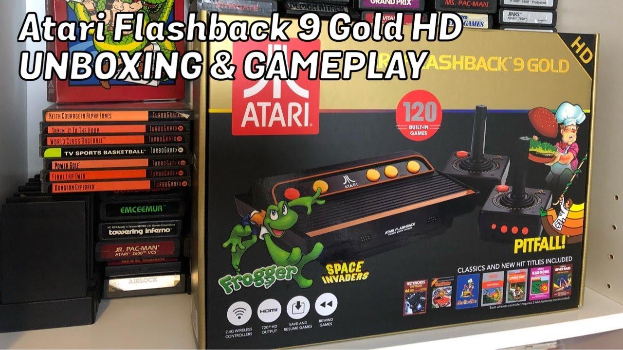 atari flashback 9  AtGames ATARI FLASHBACK 9 GOLD HD, Unboxing & Gameplay, Review ...
