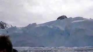 glacier calving in antarctica
