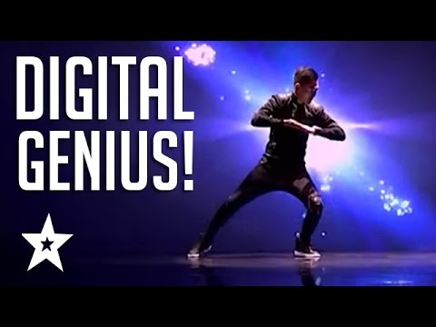 AMAZING Digital Animated Audition on Got Talent! Got Talent Global