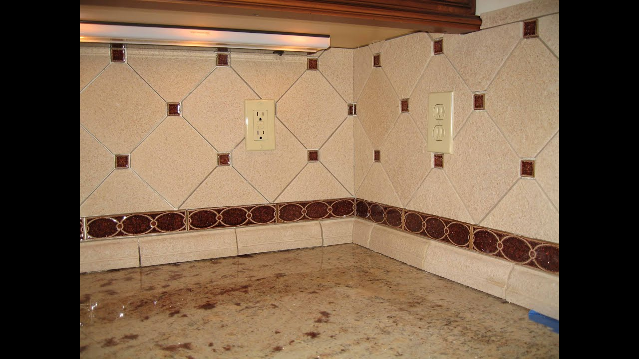 Youtube Chair Rail Part - 35: Custom Sonoma Tile Kitchen Backsplash - YouTube