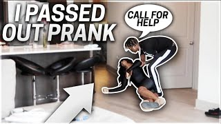 I PASSED OUT PRANK ON BOYFRIEND!!! (He Freaked Out)