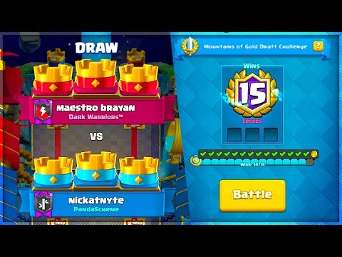 IT HAPPENED AGAIN! Clash Royale 3 CROWN DRAW in the 15 Win Challenge!