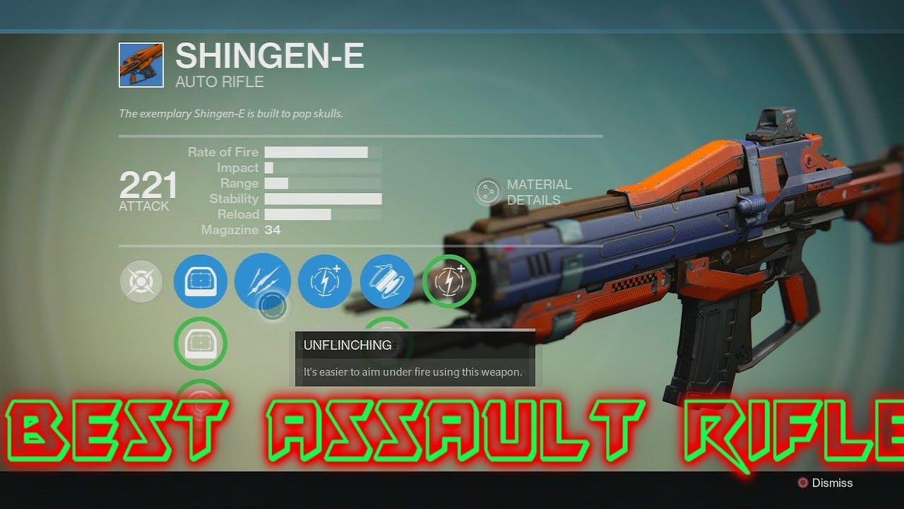 Destiny:Best Assault Rifle