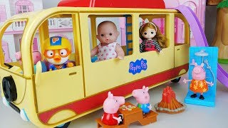 Baby doll camping bus toys and house Kitchen play - 토이몽