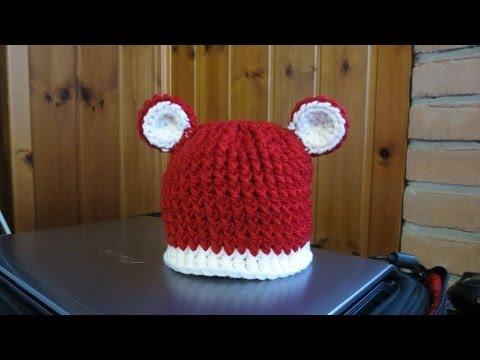Tutorial Cappello Alluncinetto Per Bimbao Con Le Orecchie Youtube