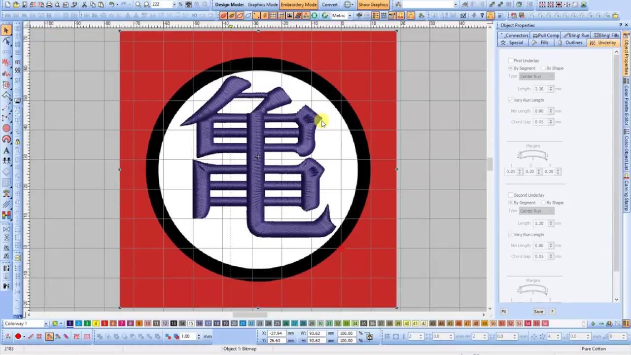 Dragon Ball Master Roshis Symbols Embroidery Part I Youtube