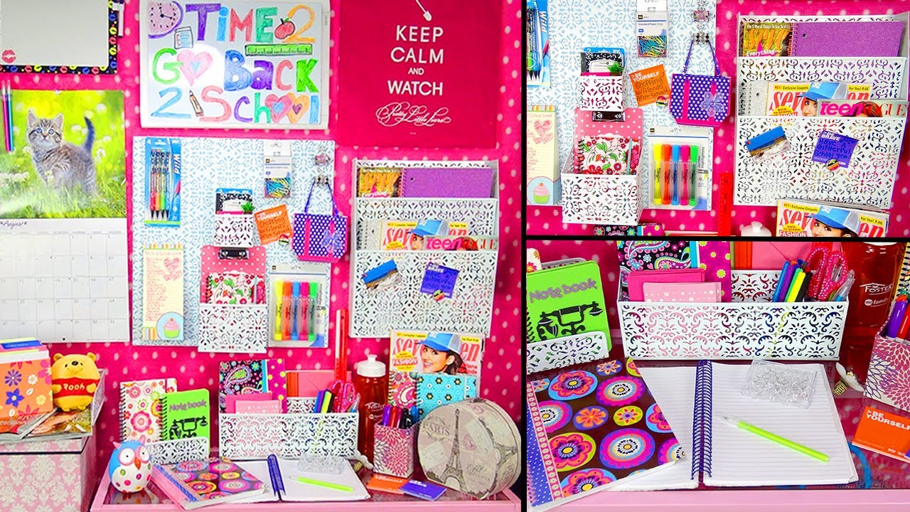 Back to school desk tour organization youtube - Back to school organization ...
