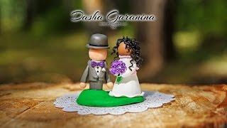 жених и невеста из полимерной глины