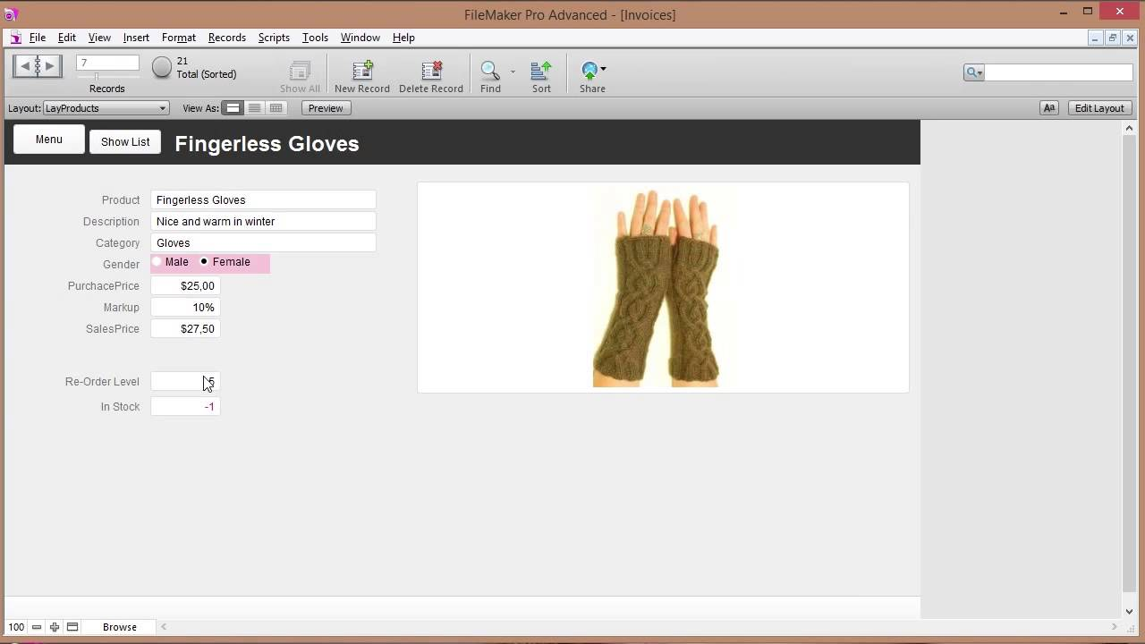 Filemaker Complete Invoicing Database