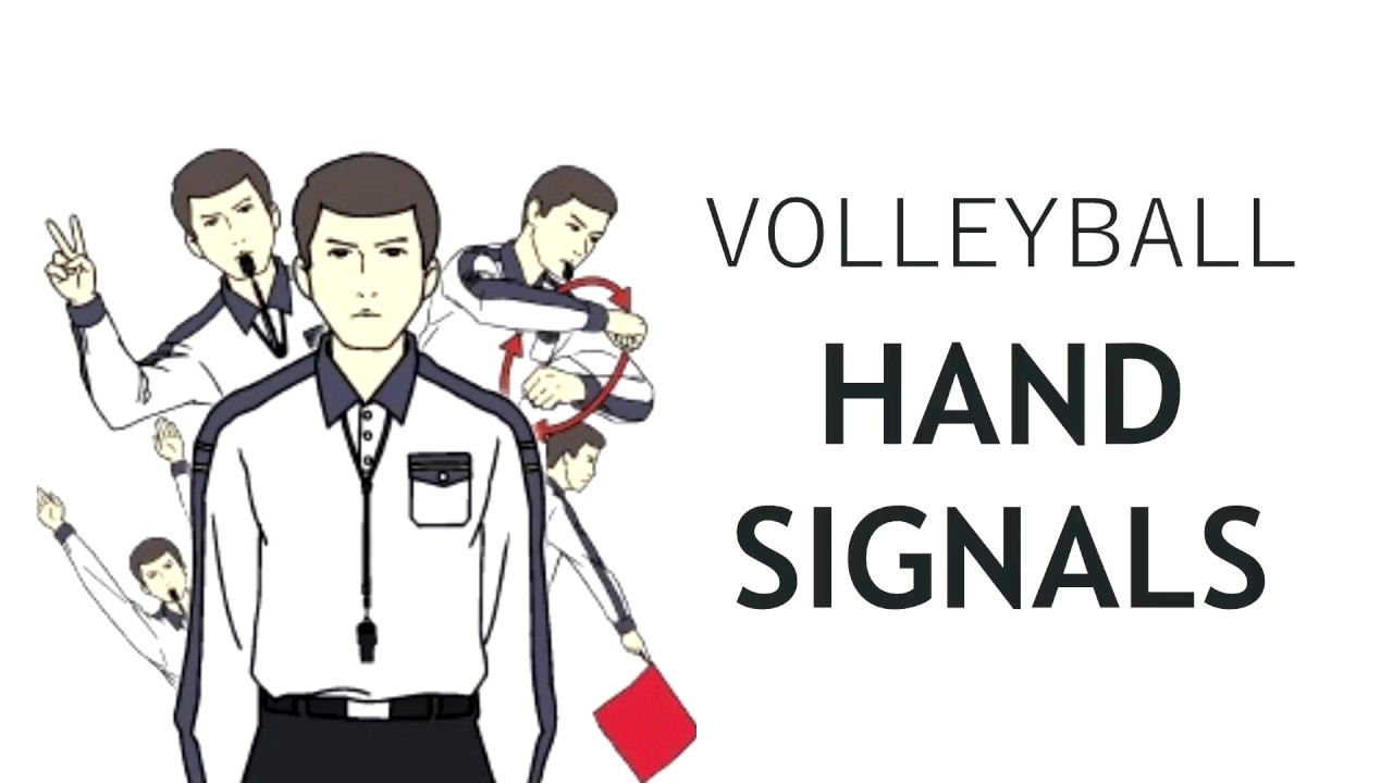 Volleyball Referee Hand Signals Youtube