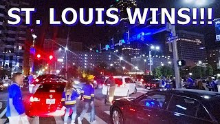 Downtown St. Louis Streets after Blues Win Stanley Cup in Boston