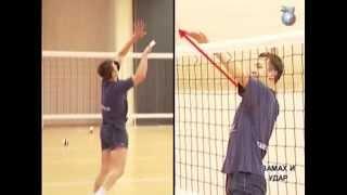 Удар нападающего. Видео-уроки волейбола.