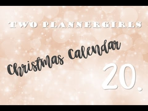 christmas calendar day 20 past year in my planner hannemari