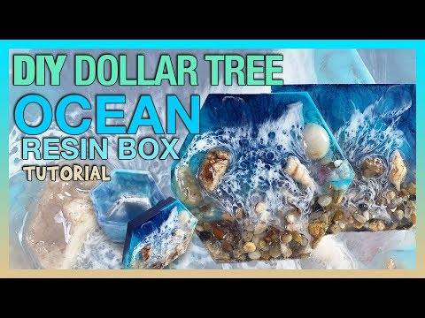 DIY Dollar Tree Ocean Decor Resin Box