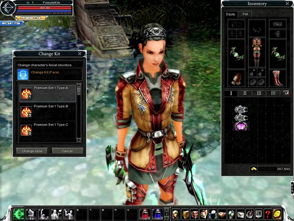 Online Hair Style: Cabal Online Female Change Kit HairStyle And Face PREMIUM