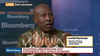 SARB's Kganyago on South Africa Economy, New Finance Minister, EM