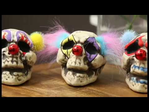 DIY Clown Skull Deocr - Howto