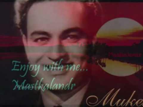 Kaanton Mein Rahne Wale Kanton Se Kya Darende..Matlabi Duniya1961- Mukesh..a Tribute