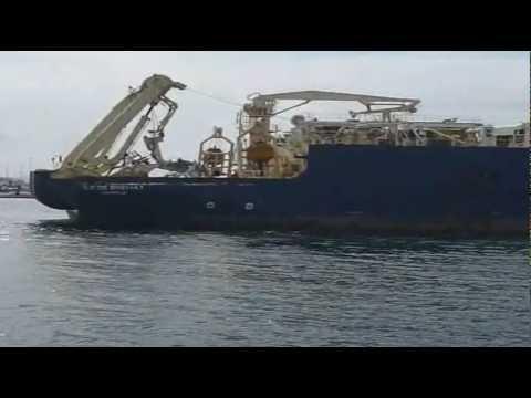 """Película del buque cablero francés """"Ile de Brehat"""" en Vigo"""