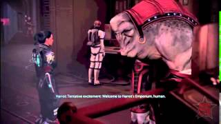 Mass Effect 3 Harrot the Elcor Merchant Omega DLC 1 online video cutter com