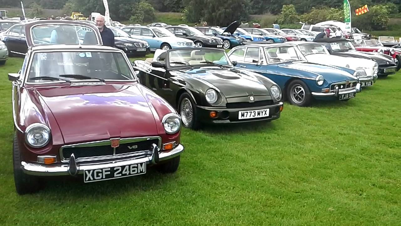 MG Car Club Stand At Corbridge Awarded Best Stand In Show - Mg car show