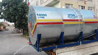 İçme Su Deposu Galvanizli Paslanmaz 10000 Litre 10 ton