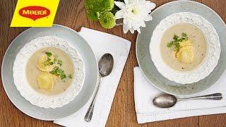 MAGGI Recipes : Ravioli & Mushroom Soup وصفات ماجي : شوربة الرافيولي بالفطر
