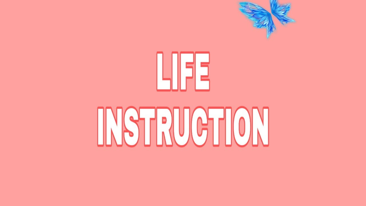 #lifeinstructions LIFE INSTRUCTION