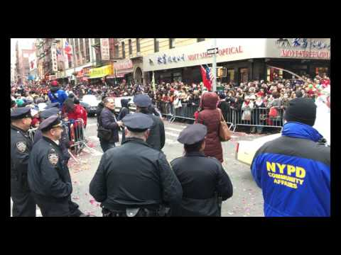 Feb 05 2017 NYC Chinatown Chinese Lunar New Year Full Parade @ Mott Street