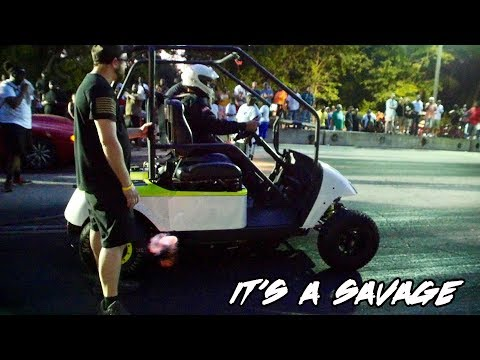 FASTEST GOLF CART IN THE WORLD! HAYABUSA MOTORCYCLE MOTOR TURBO GOLF KART & ITS A SAVAGE! BUSA KART!