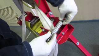 видео станок для перекатки пожарных рукавов
