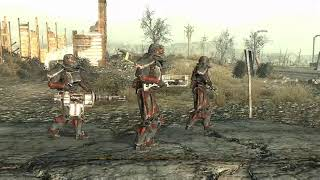 Fallout 3: Brotherhood of Steel Outcasts patrol vs Raiders
