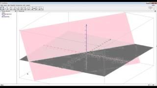 GeoGebra плоскость проходящая через точку параллельно другой плоскости