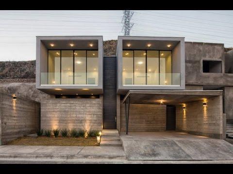 Planos de casa de hormig n de dos pisos youtube for Casas modernas hormigon visto